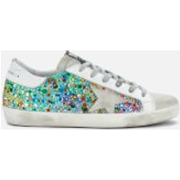 Golden Goose Deluxe Brand Women's Superstar Trainers - Rainbow Fabric/Multicolour Stone/Ice Star - U