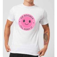 Ok Boomer Pink Smile Men's T-Shirt - White - M - White