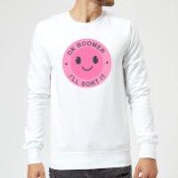 Ok Boomer Pink Smile Sweatshirt - White - L - White