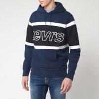 Levi's Men's Pieced Racer Hoody - Color Block Blue/White - XXL