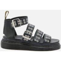Dr. Martens Women's Clarissa II Hardware Leather Sandals - Black - UK 5