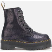 Dr. Martens Women's Molly Iridescent Crackle 8-Eye Boots - Black - UK 8