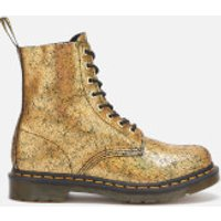 Dr. Martens Women's 1460 Pascal Iridescent Crackle 8-Eye Boots - Gold - UK 3