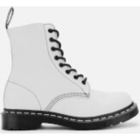 Dr. Martens Women's 1460 Pascal Virginia Leather 8-Eye Boots - Optical White - UK 3