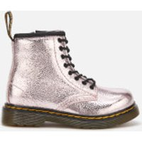 Dr. Martens Toddlers' 1460 T Crinkle Metallic Lace Up Boots - Pink Salt - UK 8 Toddler