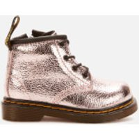 Dr. Martens Toddlers 1460 I Crinkle Metallic Lace Up Boots - Pink Salt - UK 5 Toddler