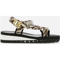 Kurt Geiger London Women's Orion Flat Sandals - Grey Mixed - UK 5