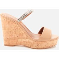 Kurt Geiger London Kurt Geiger London Women's Alexia Leather Wedged Sandals - Camel - UK 7