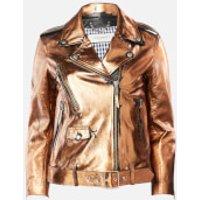 Golden Goose Deluxe Brand Women's Chiodo Dakota Biker Jacket - Distressed Bronze - IT 38/UK 6