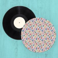 Colourful Coral Shapes Turntable Slip Mat - Coral Gifts