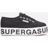 Superga Women's 2790 Cotw Outsole Lettering Trainers - Black - UK 4