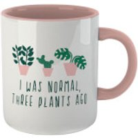 I Was Normal Three Plants Ago Mug - White/Pink - Plants Gifts