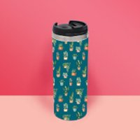 Water Colour Plants Thermo Travel Mug - Plants Gifts