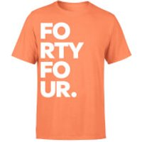 How Ridiculous Typographic Forty Four Bold T-Shirt - Coral - XXL - Coral - Coral Gifts