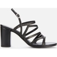 Vagabond Women's Penny Leather Block Heeled Sandals - Black - UK 4