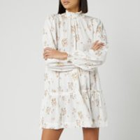 Free People Womens Petit Fours Mini Dress - Ivory - M