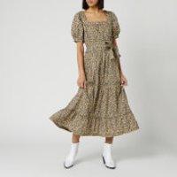 Free People Womens Heartlands Maxi Dress - Black Combo - L