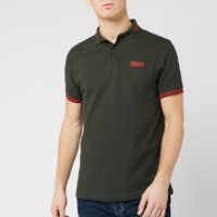 Barbour International Men's Essential Tipped Polo Shirt - Jungle Green - XL