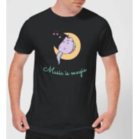 Pusheen Music Is Magic Men's T-Shirt - Black - S - Black
