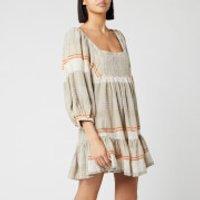 Free People Women's Cozy Striped Mini Dress - Ivory Combo - S