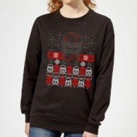 Star Wars Kylo Ren Ugly Holiday Women's Sweatshirt - Black - 5XL - Black - Star Wars Gifts
