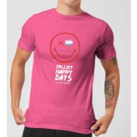 Collect Happy Days Mens T-Shirt - Pink - S - Pink