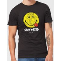 Stay Weird Upside Down Smiley Men's T-Shirt - Black - XXL - Black - Smiley Gifts