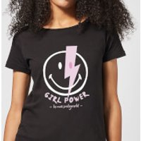 Girl Power Smiley Women's T-Shirt - Black - XXL - Black - Smiley Gifts