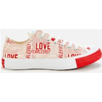 Converse Women's Chuck Taylor All Star Ox Trainers - Egret/University Red/White - UK 4