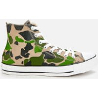 Converse Men's Chuck Taylor All Star Camo Hi-Top Trainers - Black/Candied Ginger/White - UK 7