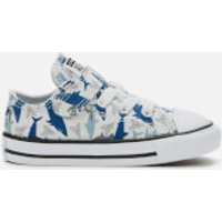 Converse Toddlers' Chuck Taylor All Star 1V Shark Bite Ox Trainers - Photon Dust/Rush Blue/White - U