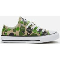 Converse Converse Kids' Chuck Taylor All Star Camo Ox Trainers - Black/Khaki/White - UK 2 Kids