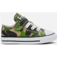 Converse Converse Toddlers' Chuck Taylor All Star 1V Camo Ox Trainers - Black/Khaki/White - UK 7 Toddlers