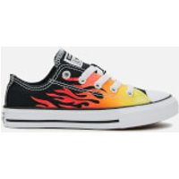 Converse Converse Kids' Chuck Taylor All Star Archive Flame Ox Trainers - Black/Enamel Red/Fresh Yellow - UK 10 Kids