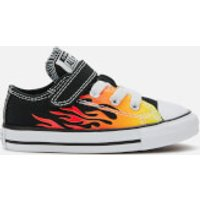 Converse Toddlers' Chuck Taylor All Star 1V Archive Flame Ox Trainers - Black/Enamel Red/Fresh Yello