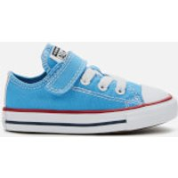 Converse Toddlers' Chuck Taylor All Star 1V Twisted Ox Trainers - Coast/Garnet/White - UK 3 Toddlers