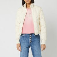 KENZO Women's Down Puffer Jacket Packable - Off White - XS