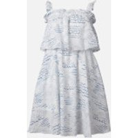 KENZO Women's Strapless Ruffles Dress - Duck Blue - UK 10/EU 40