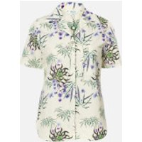 KENZO Women's Hawaiian Shirt Knot Detail - Off White - UK 6/EU 36