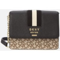 shop for DKNY Women's Liza Small Chain Shoulder Bag - Chino/Black at Shopo