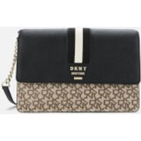 shop for DKNY Women's Liza Medium Shoulder Bag - Chino/Black at Shopo