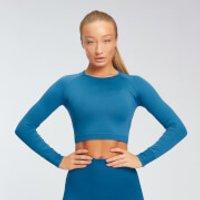 MP Womens Shape Seamless Long Sleeve Crop Top - Pilot Blue - XL