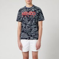 KENZO Men's All Over Printed Mermaid T-Shirt - Midnight Blue - S