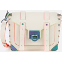 MICHAEL MICHAEL KORS Womens Manhattan Small Messenger Bag - Optic White