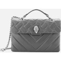 Kurt Geiger London Womens Leather Kensington X Bag - Grey