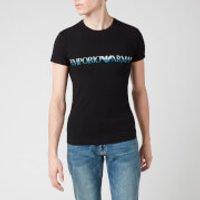 Emporio Armani Men's Megalogo T-Shirt - Black - XXL
