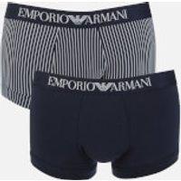 Emporio Armani Men's 2 Pack Trunk Boxer Shorts - Multi - S