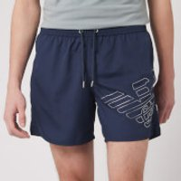 Emporio Armani Men's Silver Eagle Swim Short - Navy - 48/S