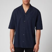 HUGO Men's Elanzo Short Sleeve Shirt - Dark Blue - S