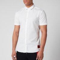 HUGO Men's Empson-W Short Sleeve Shirt - Open White - L